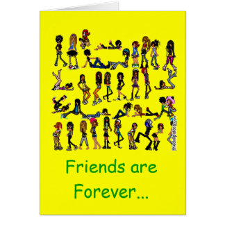 EMOZ 2, Friends are Forever... Greeting Card
