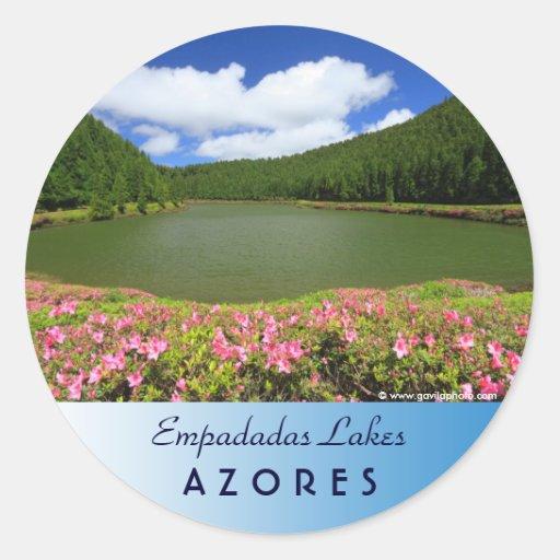 Empadadas Lakes - Azores Round Stickers