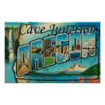 Empalme de la cueva, Oregon - escenas grandes de l Póster