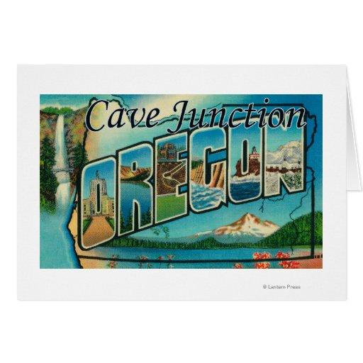 Empalme de la cueva, Oregon - escenas grandes de l Tarjeta De Felicitación