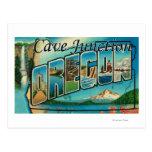 Empalme de la cueva, Oregon - escenas grandes de Tarjeta Postal