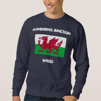 Empalme de Llandudno, País de Gales con la bandera Sudadera