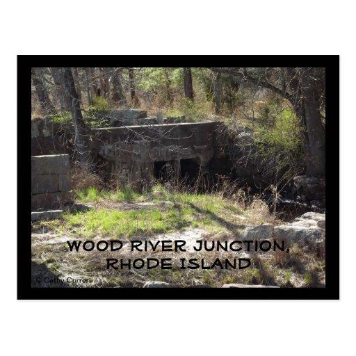 Empalme de madera del río, Rhode Island Postales