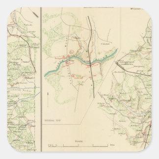 Empalme del condado de Spotsylvania Hannover Pegatina Cuadrada