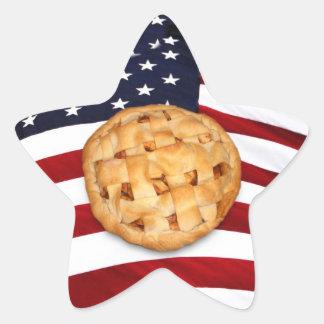 Empanada americana empanada de Apple con la bande Colcomanias Forma De Estrellaes