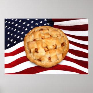 Empanada americana (empanada de Apple con la bande Póster