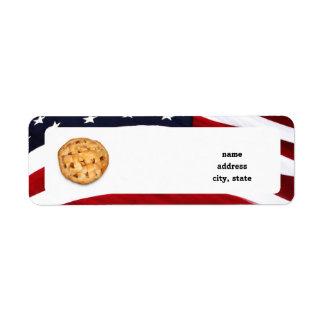 Empanada americana etiqueta de remite