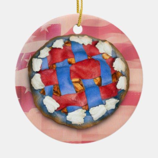 Empanada blanca y azul roja en vieja gloria ornamente de reyes