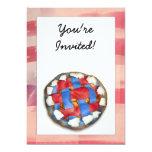 Empanada blanca y azul roja en vieja gloria invitación 12,7 x 17,8 cm