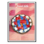 Empanada blanca y azul roja en vieja gloria tarjeta de negocio