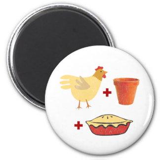 Empanada caliente del pollo imán redondo 5 cm
