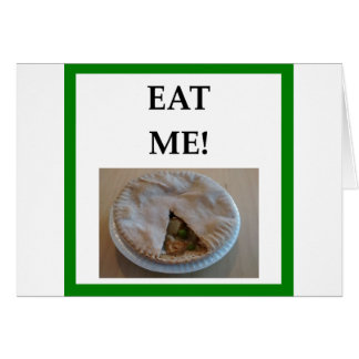 empanada caliente tarjeta de felicitación