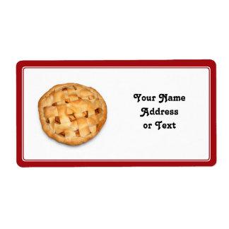 Empanada de Apple (añada el color de fondo) Etiquetas De Envío