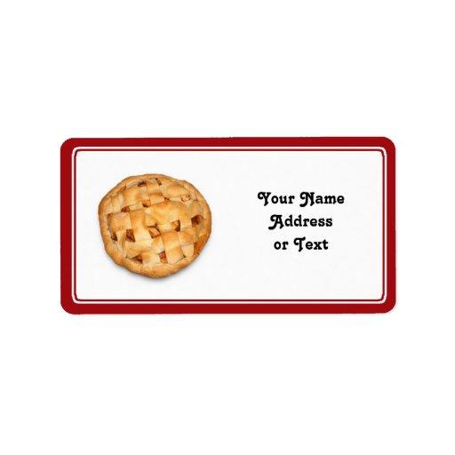 Empanada de Apple (añada el color de fondo) Etiquetas De Dirección