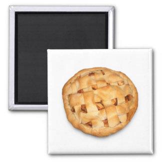 Empanada de Apple (añada el color de fondo) Imán Cuadrado