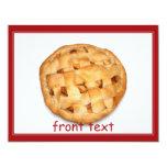 Empanada de Apple (añada el color de fondo) Invitación 10,8 X 13,9 Cm