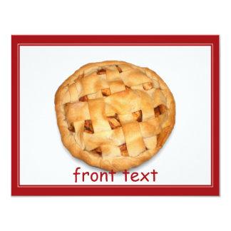 """Empanada de Apple (añada el color de fondo) Invitación 4.25"""" X 5.5"""""""