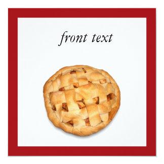 """Empanada de Apple (añada el color de fondo) Invitación 5.25"""" X 5.25"""""""