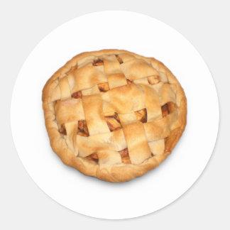 Empanada de Apple (añada el color de fondo) Pegatina Redonda