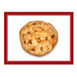 Empanada de Apple (añada el color de fondo) Postal