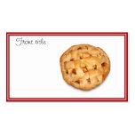 Empanada de Apple (añada el color de fondo) Tarjetas De Visita