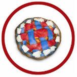 Empanada de Apple blanca y azul roja Esculturas Fotograficas