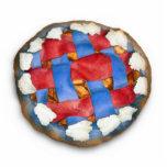Empanada de Apple blanca y azul roja Escultura Fotografica
