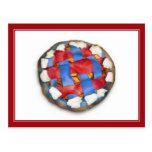Empanada de Apple blanca y azul roja Postales
