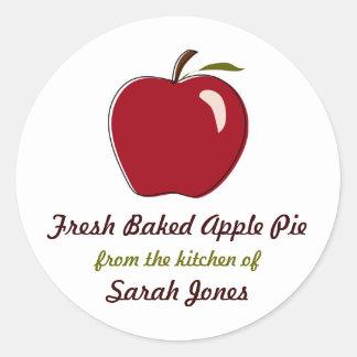 Empanada de Apple, de la cocina de, etiquetas Pegatina Redonda
