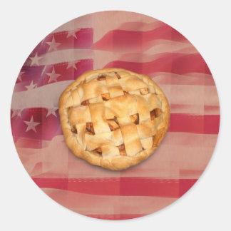 Empanada de Apple del americano Pegatina Redonda