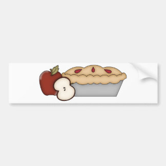 Empanada de Apple dulce Etiqueta De Parachoque