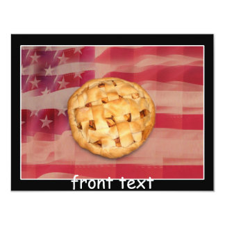 """Empanada de Apple en vieja gloria Invitación 4.25"""" X 5.5"""""""