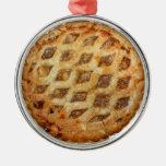 Empanada de Apple fresca caliente Ornamento De Navidad