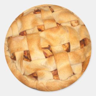 Empanada de Apple Pegatina Redonda