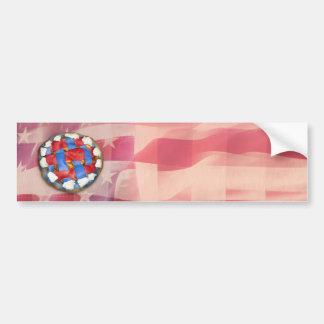 Empanada de Apple roja, blanca y azul Pegatina Para Auto