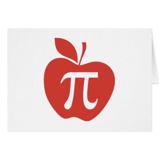 Empanada de Apple roja Tarjeta De Felicitación