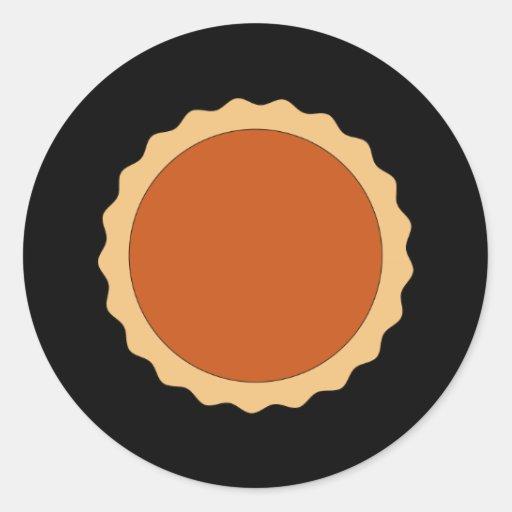 Empanada de calabaza etiqueta redonda