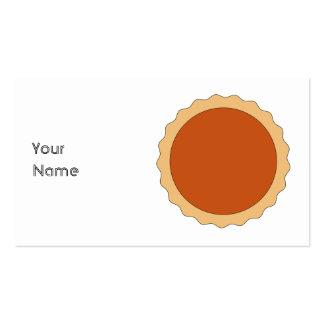 Empanada de calabaza plantillas de tarjetas personales