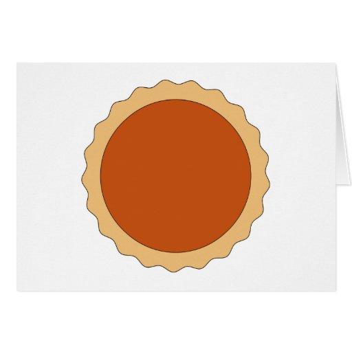Empanada de calabaza tarjeta de felicitación