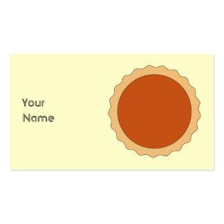 Empanada de calabaza tarjetas de visita