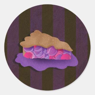 Empanada de la baya pegatina redonda