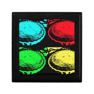 empanada de la cereza del arte pop con un desmoche cajas de recuerdo
