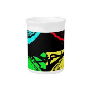 empanada de la cereza del arte pop con un desmoche jarrones