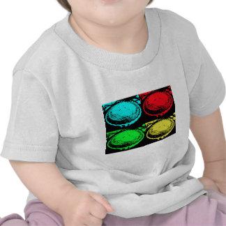 empanada de la cereza del arte pop con un desmoche camiseta