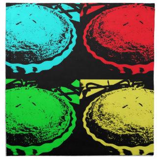 empanada de la cereza del arte pop con un desmoche servilletas de papel