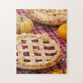 Empanada de la cereza del enrejado y empanada de A Puzzles