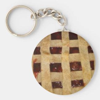 Empanada de la cereza llavero redondo tipo pin