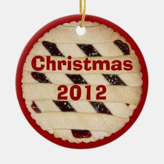 Empanada de la frambuesa/ornamento agrio del navid ornamento de navidad