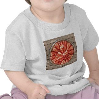 Empanada de la fresa camiseta