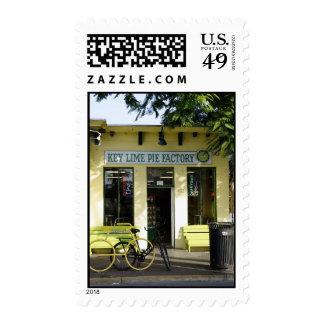 Empanada de la lima agria timbre postal